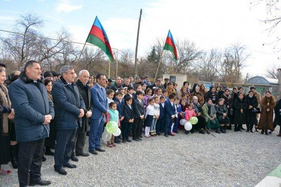 Tərtər rayonunun Bayandur kəndində modul tipli yeni məktəb binası istifadəyə verilib