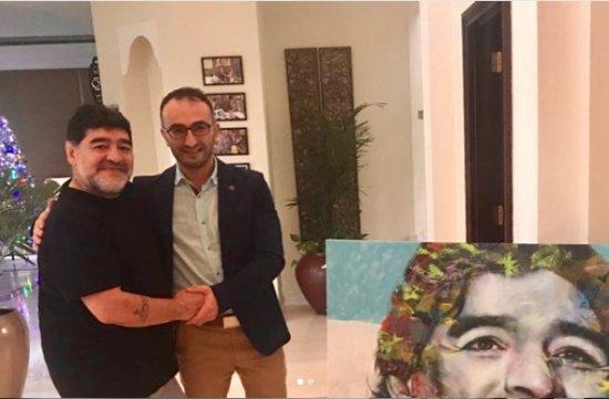 Maradona azərbaycanlının etdiyi sürprizdən şoka düşüb