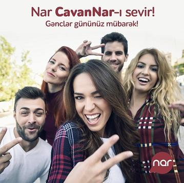 """Gənclər günündə """"Nar""""-dan cavanlara """"CavanNar"""" hədiyyəsi"""