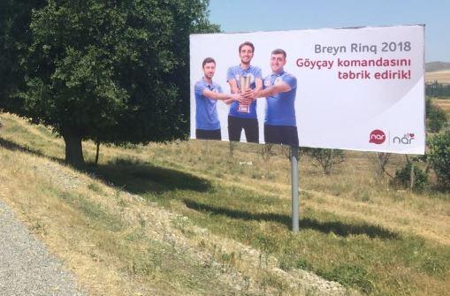 """""""Nar""""-ın dəstək olduğu  """"Brain Ring"""" bilik yarışlarının qalibi """"Göyçay"""" komandası oldu"""